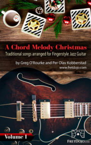 Christmas carol chord melody jazz guitar ebook